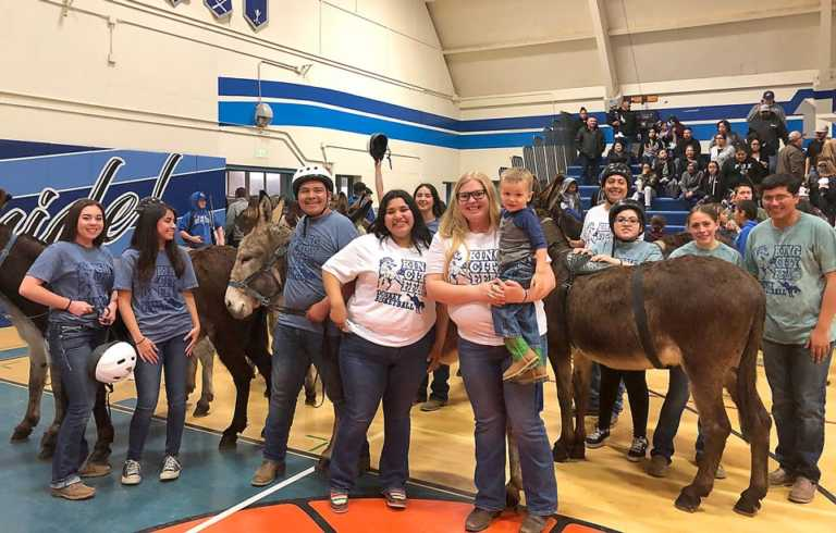 King City, Greenfield FFA compete in donkey basketball